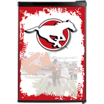 Calgary Stampeders Fridge, Calgary Stampeders Beer Fridge, Calgary Stampeders Mini Fridge, Calgary Stampeders Fridge Decals, Custom Fridge Wraps, Fridge Decals