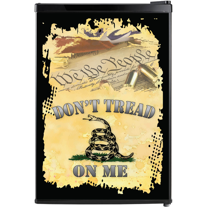 Don't Tread On Me Fridge, Don't Tread On Me Beer Fridge, Don't Tread On Me Mini Fridge, Don't Tread On Me Decals, Custom Fridge Wraps, Fridge Decals