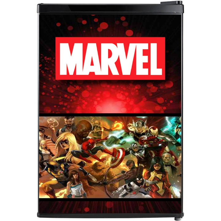 Marvel Comics Fridge, Marvel Comics Beer Fridge, Marvel Comics Mini Fridge, Marvel Comics Fridge Decals, Custom Fridge Wraps, Fridge Decals