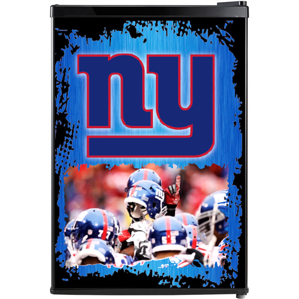 New York Giants Fridge, New York Giants Beer Fridge, New York Giants Mini Fridge, New York Giants Fridge Decals, Custom Fridge Wraps, Fridge Decals