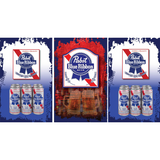 Pabst Blue Ribbon Fridge, Pabst Blue Ribbon Beer Fridge, Pabst Blue Ribbon Mini Fridge, Pabst Blue Ribbon Fridge Decals, Custom Fridge Wraps, Fridge Decals
