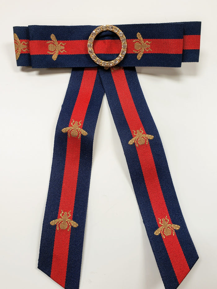 Red/Navy long bow clip