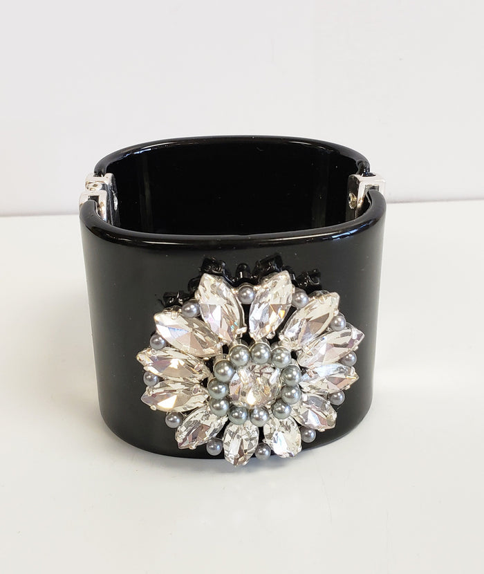 Black bling cuff - Luxe Shoe Boutique & Accessories