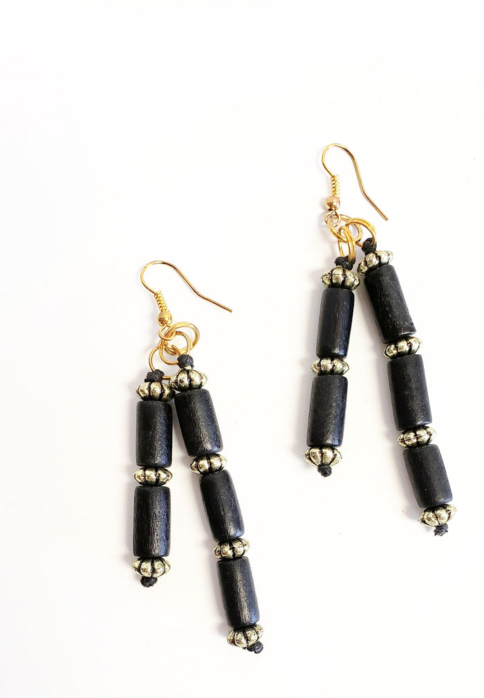 Black & Gold Earrings - Luxe Shoe Boutique & Accessories