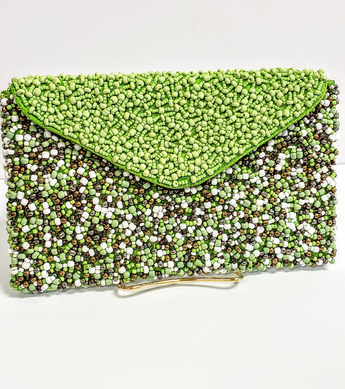 Green beaded bag - Luxe Shoe Boutique & Accessories
