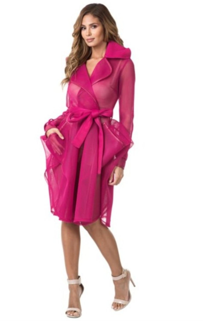 Fuchsia mesh jacket - Luxe Shoe Boutique & Accessories