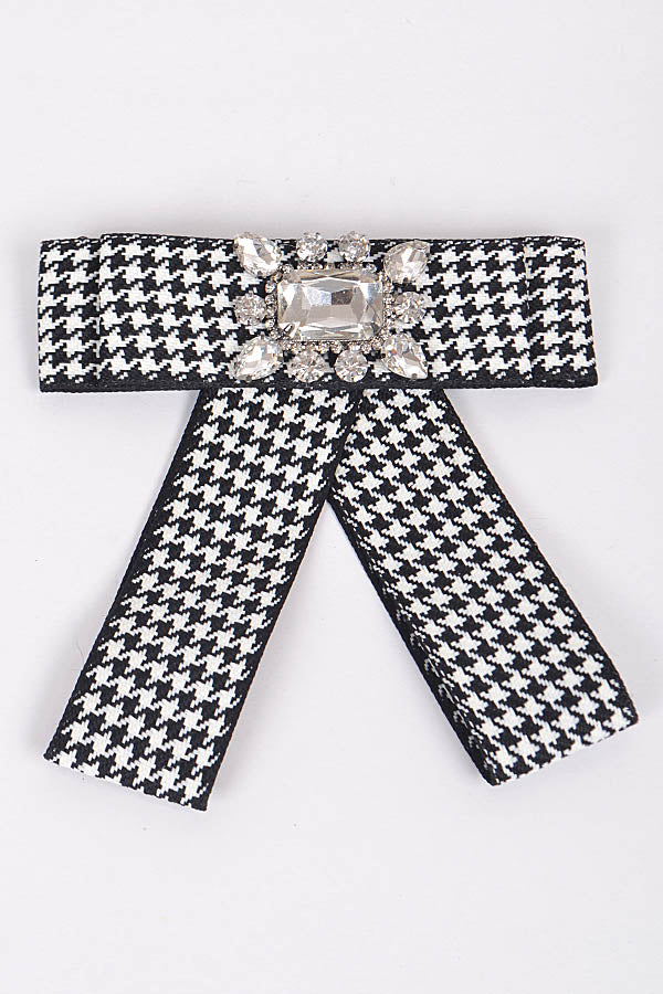 Black & white bow clip - Luxe Shoe Boutique & Accessories