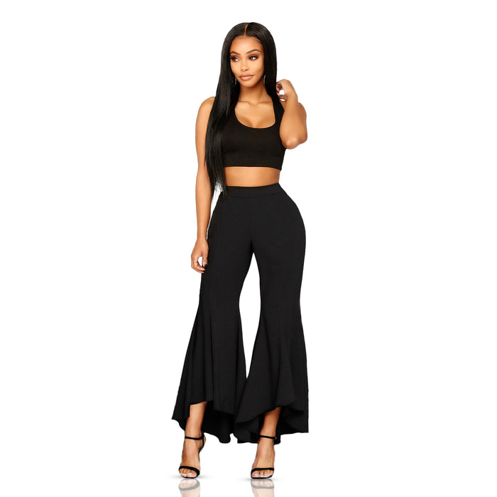 Black bell bottom pant - Luxe Shoe Boutique & Accessories