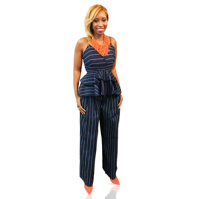 Denim wide leg pants - Luxe Shoe Boutique & Accessories