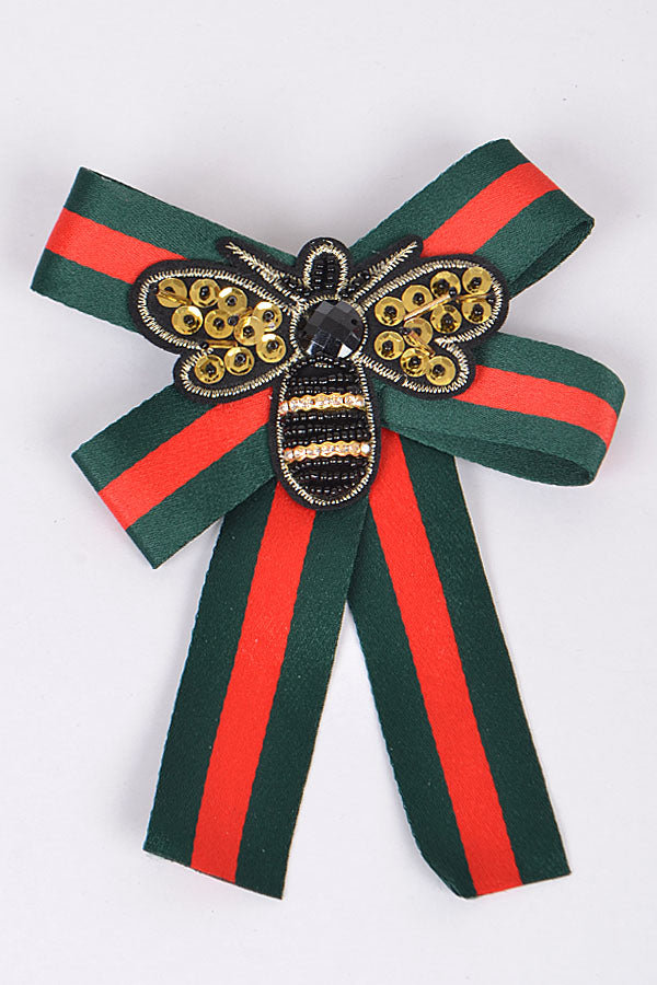 Red/Green Bow clip - Luxe Shoe Boutique & Accessories