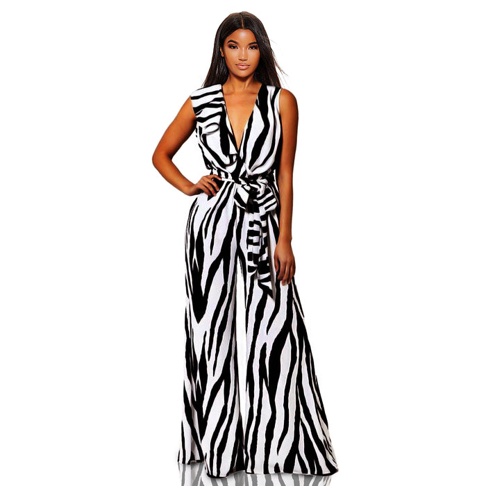 Black and white  jumpsuit - Luxe Shoe Boutique & Accessories