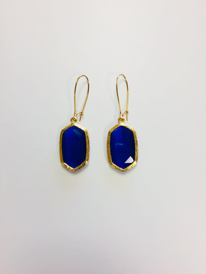 Royal blue earrings - Luxe Shoe Boutique & Accessories