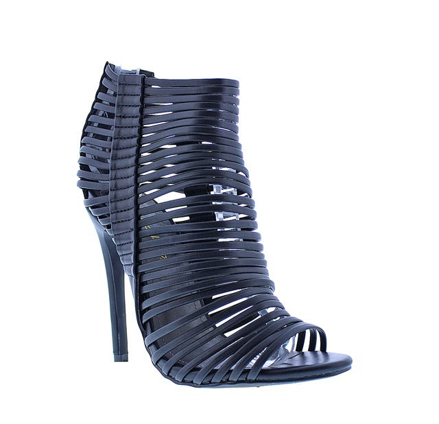 Black caged strap heel - Luxe Shoe Boutique & Accessories