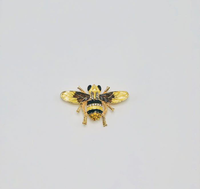 Yellow bumble bee broach - Luxe Shoe Boutique & Accessories