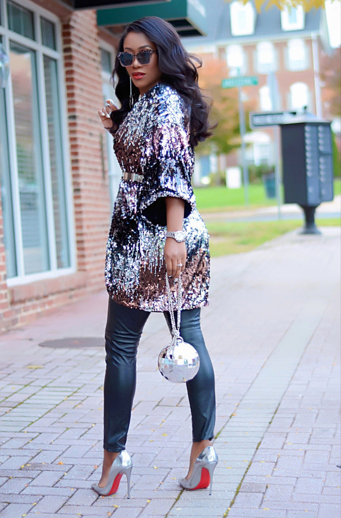 Sequined Kimono - Luxe Shoe Boutique & Accessories