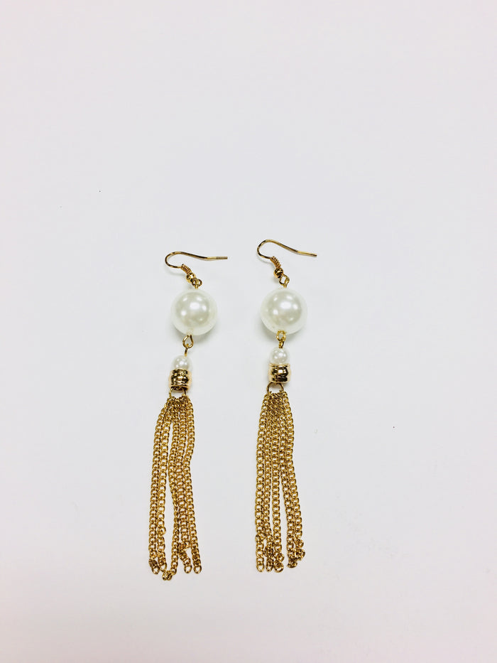 Pearl tassel earrings - Luxe Shoe Boutique & Accessories