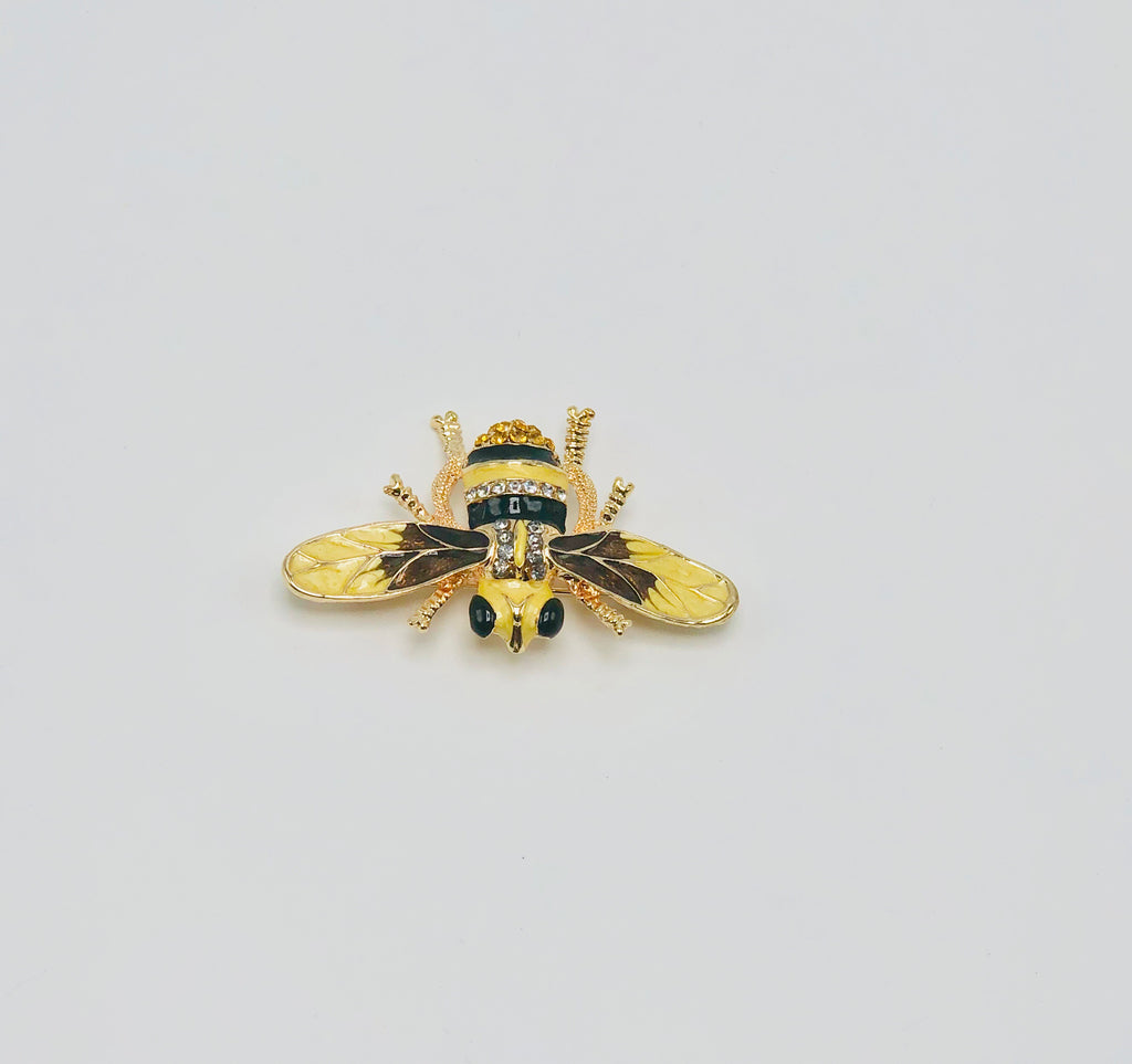 Yellow bumble bee broach