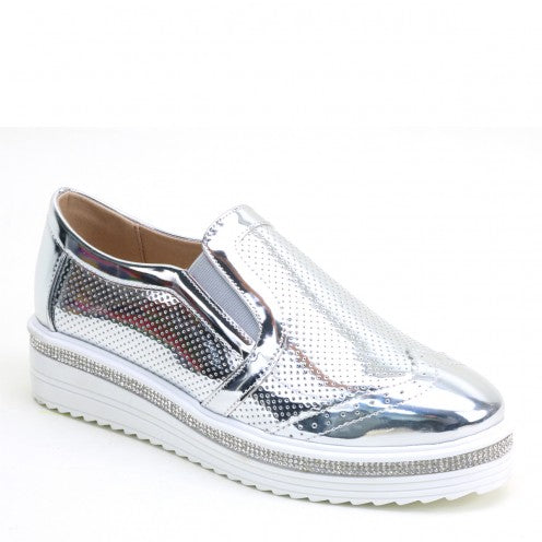 Marissa-Bling Slip on Oxford