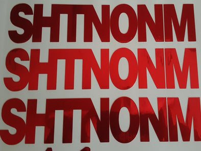 "SHTNONM- Limited Avery Red Chrome 9"" Decals"