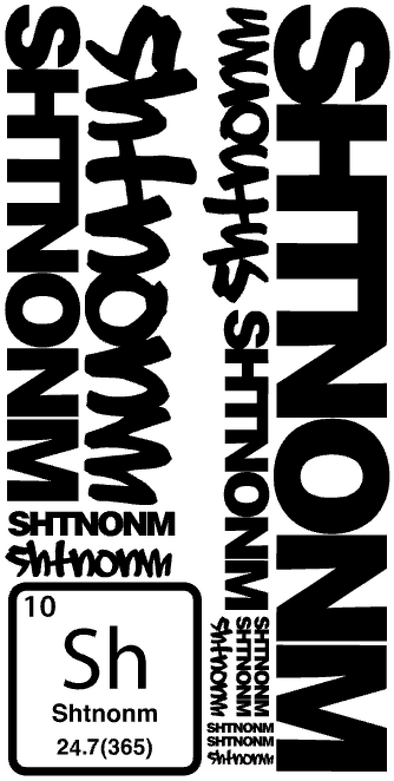 "SHTNONM- 23"" BOLD DECAL BUNDLE SHEET"