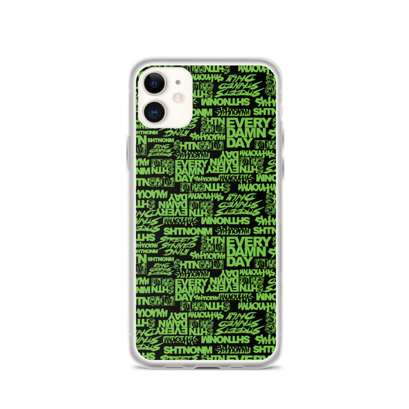 SHTNONM -  Black/Neon Green iPhone Case