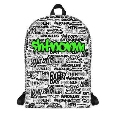 SHTNONM - White Backpack (Neon Green)