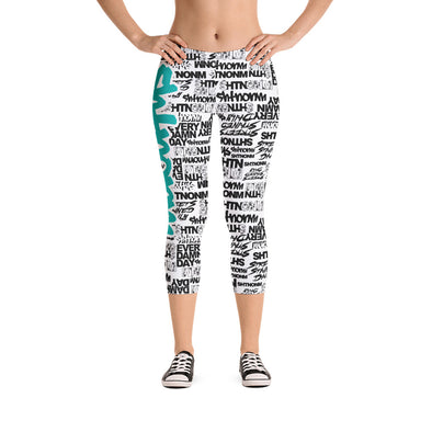 SHTNONM - CAPRI LEGGINGS (WHITE/TIFFANY MINT)