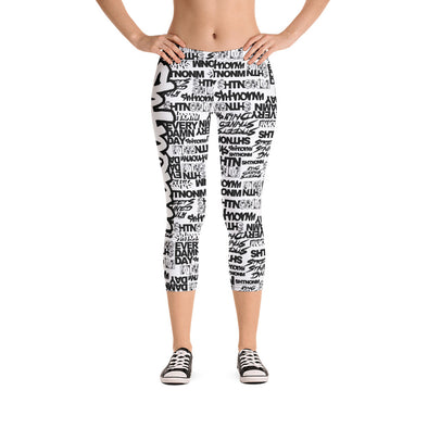 SHTNONM - Capri Leggings (White/Black)