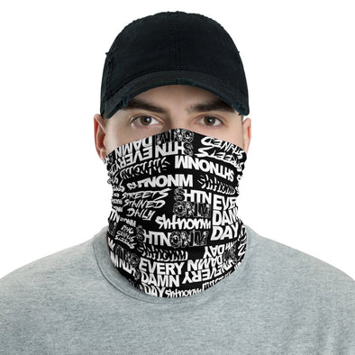 Black/White Face Mask/Neck Gaiter