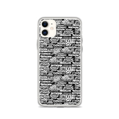 SHTNONM - Black/White iPhone Case