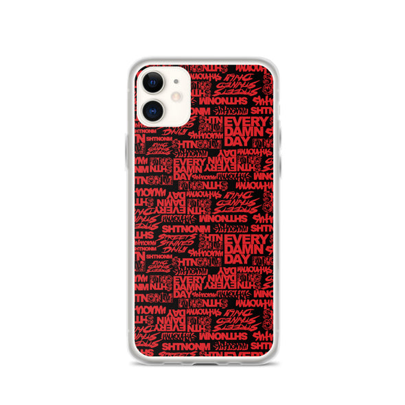 SHTNONM - Black/Red iPhone Case