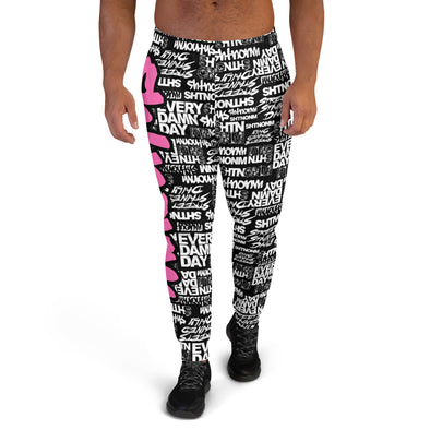 MEN'S SHTNONM ALL DAY JOGGERS (BLACK/HOT PINK)