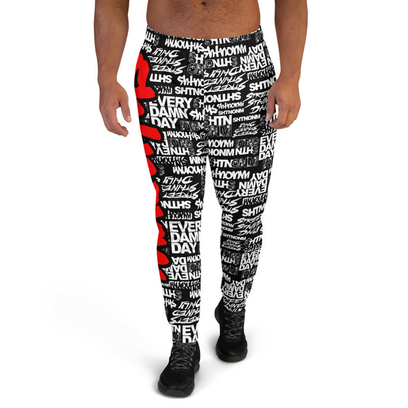 MEN'S SHTNONM ALL DAY JOGGERS (BLACK/RED)