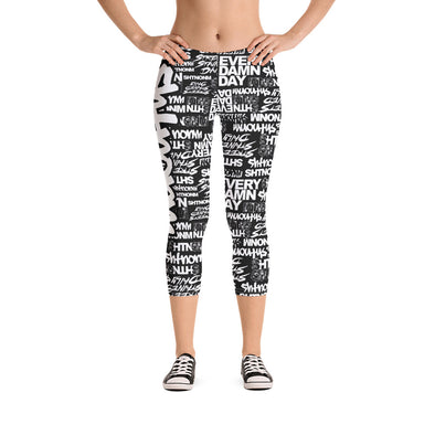 SHTNONM - Capri Leggings (Black/White)