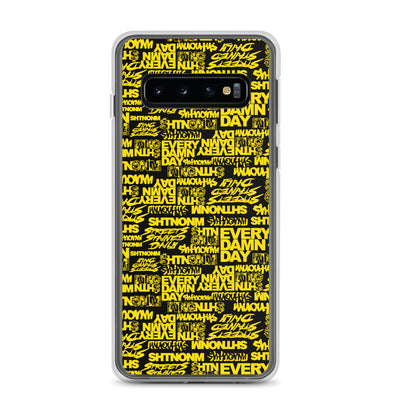 SHTNONM - Black/Yellow Samsung Case