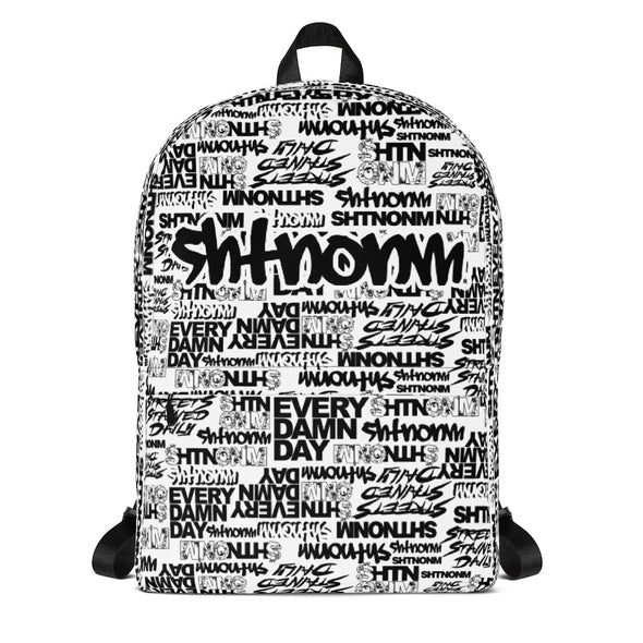 SHTNONM - White Backpack (Black)