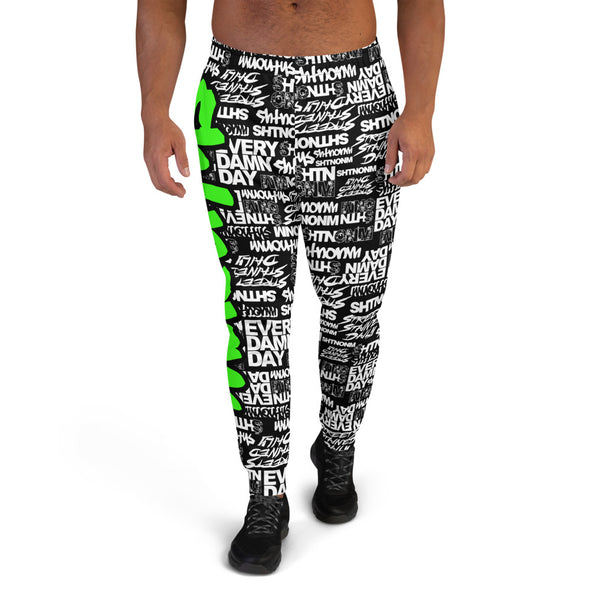MEN'S SHTNONM ALL DAY JOGGERS (BLACK/NEON GREEN)