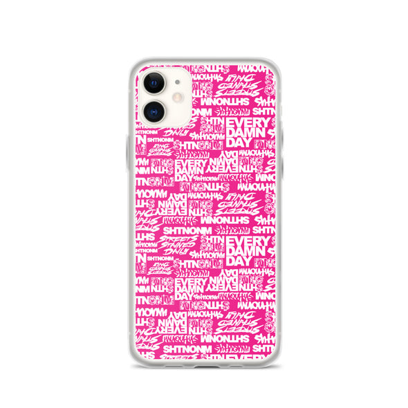 SHTNONM - Pink/White iPhone Case