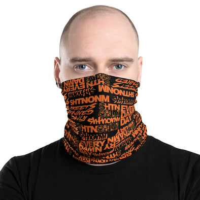Black/Orange Face Mask/Neck Gaiter