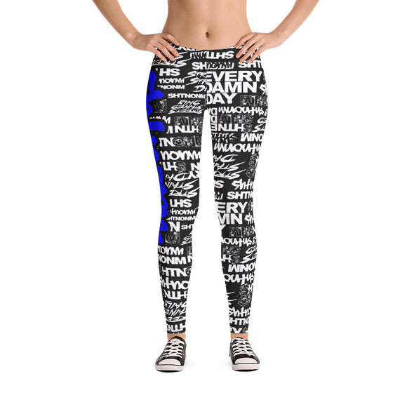 SHTNONM - LEGGINGS (BLACK/BLUE)