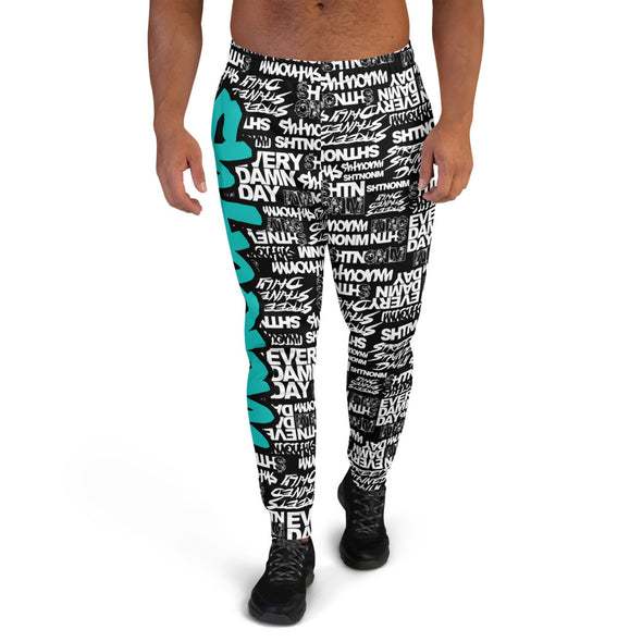 MEN'S SHTNONM ALL DAY JOGGERS (BLACK/TIFFANY MINT)