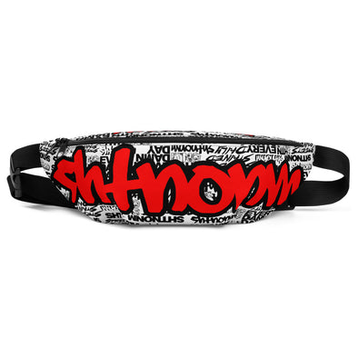 SHTNONM - White Fanny Pack (Red)