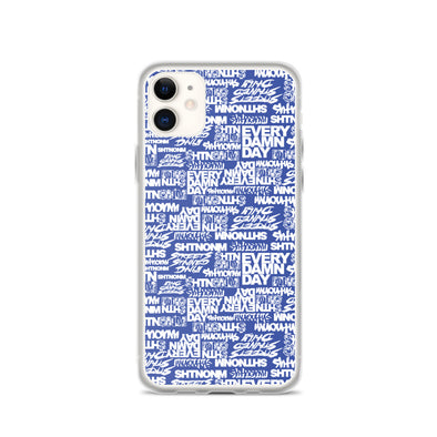 SHTNONM - Blue/White iPhone Case