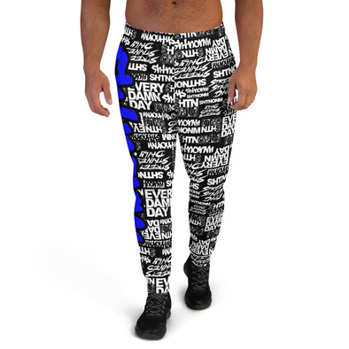 MEN'S SHTNONM ALL DAY JOGGERS (BLACK/BLUE)