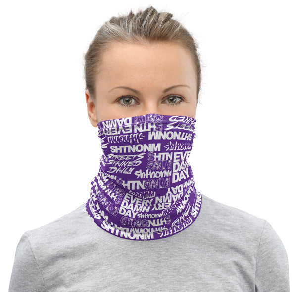 White/Purple Face Mask/Neck Gaiter