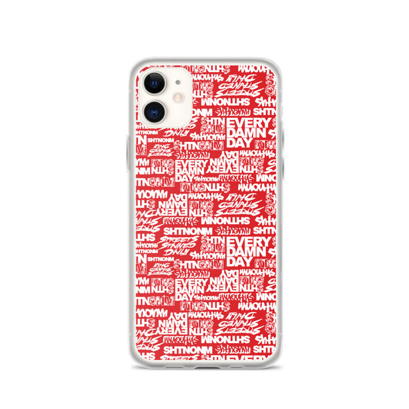 SHTNONM - Red/White iPhone Case