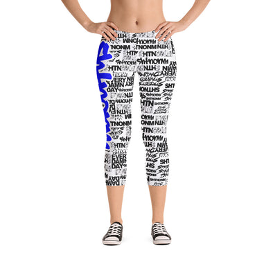 SHTNONM - CAPRI LEGGINGS (WHITE/BLUE)