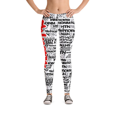 SHTNONM - LEGGINGS (WHITE/RED)