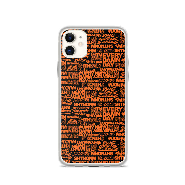 SHTNONM - Black/Orange iPhone Case