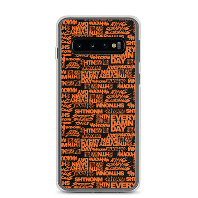 SHTNONM - Black/Orange Samsung Case